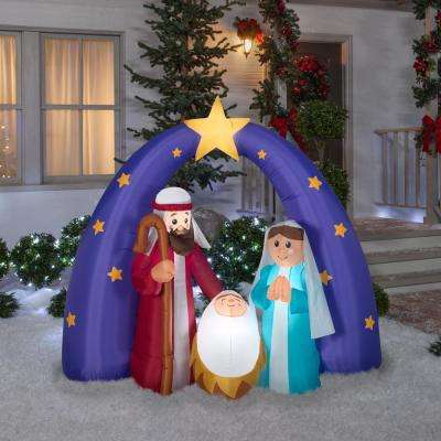 6 ft. Pre-Lit Life Size Airblown Inflatable Nativity Scene