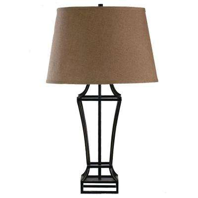 31 in. Rubbed Bronze Metal Table Lamp