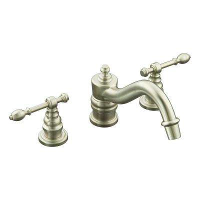 IV Georges 8 in. Widespread 2-Handle Low-Arc Bathroom Faucet Trim Kit in Vibrant Brushed Nickel (Valve Not Included)