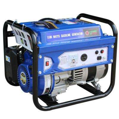 Green Power 1500/1200-Watt Gasoline Powered Recoil Start Portable Generator equipped with a 98cc 3HP LCT Engine
