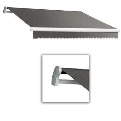 12 ft. LX-Maui Manual Retractable Acrylic Awning (120 in. Projection) in Gray