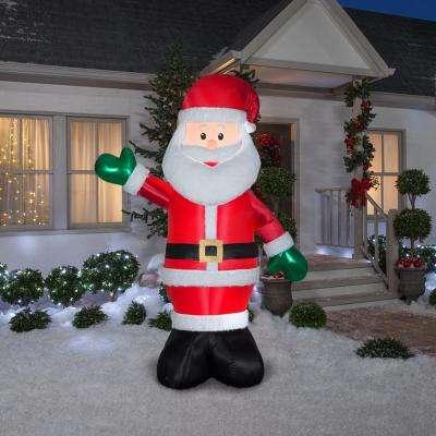 8 ft. Pre-Lit Giant Airblown Inflatable Fuzzy Santa with Metallic Detail