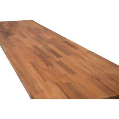 6 ft. 2 in. L x 3 ft. 3 in. D x 1.5 in. T Butcher Block Countertop in Unfinished Beech