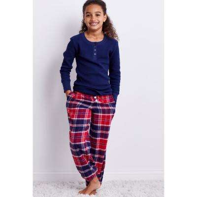 Family Flannel Teen's Whitaker Plaid 2-Piece Thermal Pajama Set