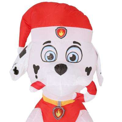 Holiday 3 ft. H x 1.64 ft. W Inflatable Marshall the Fire Pup with Candy Cane