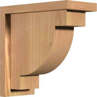 5-1/2 in. x 12 in. x 12 in. Western Red Cedar Alpine Smooth Corbel with Backplate