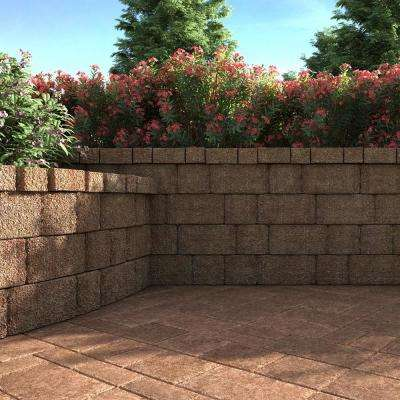 ProMuro 6 in. x 18 in. x 12 in. Harvest Blend Concrete Retaining Wall Block (40 Pcs. / 30 Face ft. / Pallet)