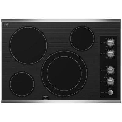 Whirlpool Gold 30 in. Radiant Electric Cooktop in Stainless Steel with 4 Elements including AccuSimmer Element Whirlpool