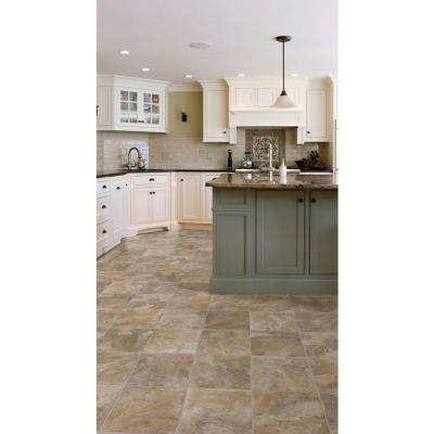 PRO Basic Rustic Slate Neutral Residential Vinyl Sheet, Sold by 12 ft. Wide x Custom Length