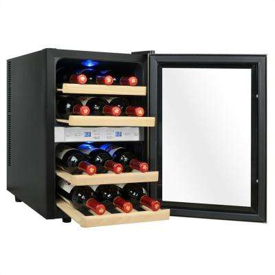 12-Bottle Dual Zone Thermoelectric Wine Cooler in Stainless Steel with Reversible Door Design