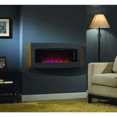 Serendipity 35 in. Wall-Mount/Tabletop Electric Fireplace in Black