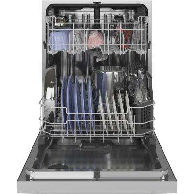 Front Control Tall Tub Dishwasher in Stainless Steel with Stainless Steel Tub and Steam Prewash, 48 dBA