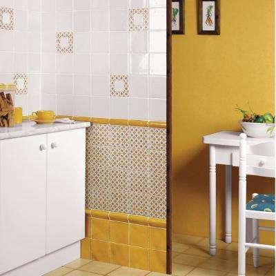 Novecento Moldura Camel 2-1/8 in. x 5-1/8 in. Ceramic Wall Trim Tile