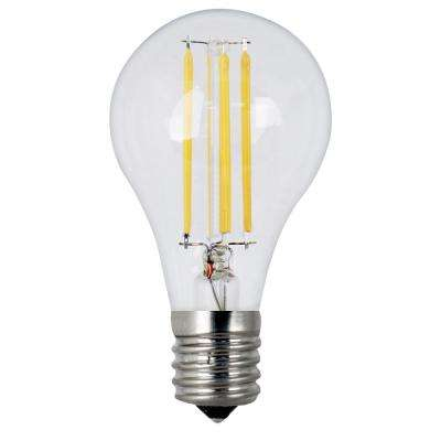 40W Equivalent Soft White A15 Dimmable Clear Filament LED Intermediate Base Light Bulb (Case of 24)