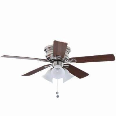 Clarkston 44 in. Indoor Brushed Nickel Ceiling Fan with Light Kit