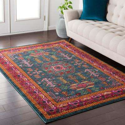 Ariane Teal 8 ft. x 10 ft. Indoor Area Rug