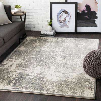 Ursa Seafoam 2 ft. x 3 ft. Distressed Area Rug