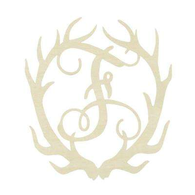 19.5 in. Unfinished Antler Monogram (F)