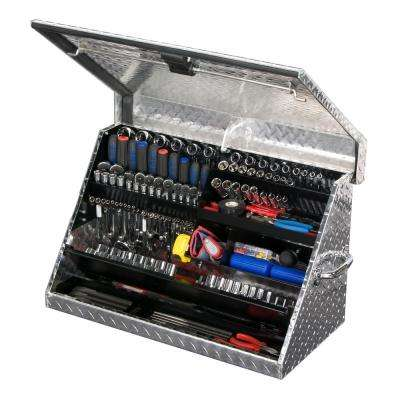 30 in. 0-Drawer Portable Tool Box in Aluminum