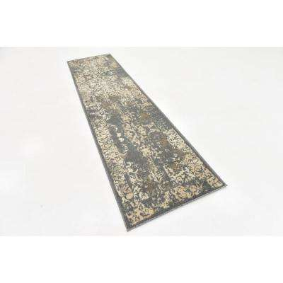 Tuareg Mirage Gray 2' 6 x 10' 0 Runner Rug