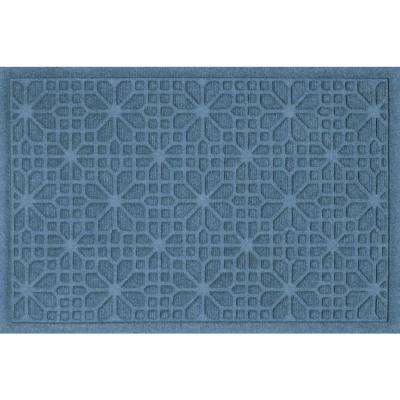 Bungalow Flooring WaterGuard Stained Glass Bluestone 2 ft. x 3 ft. Polypropylene Mat