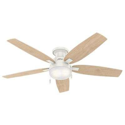 Duncan 52 in. LED Indoor Fresh White Flush Mount Ceiling Fan with Light