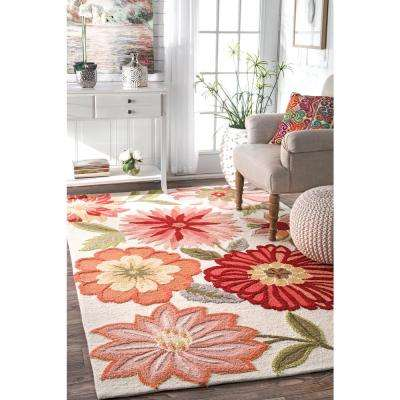 Palm Springs Pink 6 ft. x 9 ft. Area Rug