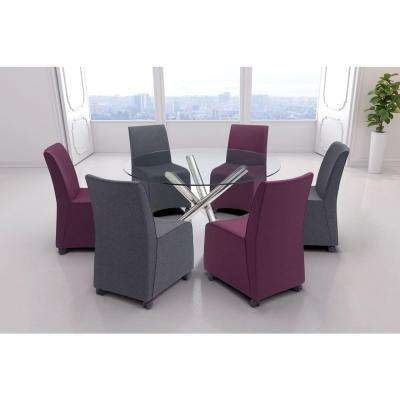 Whittle Purple Polyester Dining Chair (Set of 2)