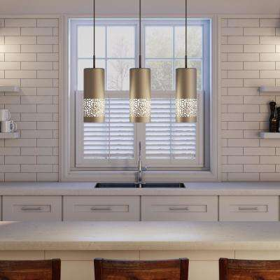 Carmelia 3-Light Satin Nickel Hanging Light