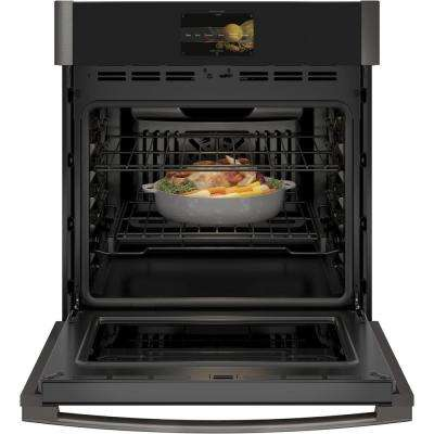 Profile 27 in. Single Electric Smart Wall Oven with Convection Self-Cleaning and Wi-Fi in Black Stainless Steel