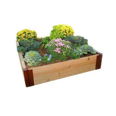 One Inch Series 4 ft. x 4 ft. x 12 in. Cedar Raised Garden Bed Kit