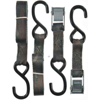 1 in.x 6 ft. x 1200 lb. ATV/Cycle Camo Cam Buckle Tie-Down 2-Pack