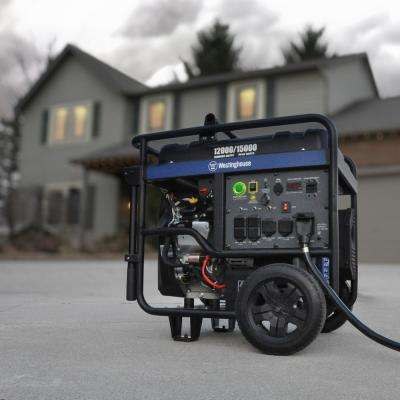 12,000-Watt Gas Powered Ultra Duty Portable Generator with Remote Start and Transfer Switch Ready Outlet