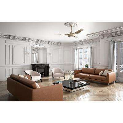 Perseus 64 in. LED Indoor/Outdoor Metallic Sunsand Ceiling Fan