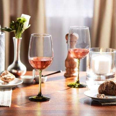 Vina 18.5 oz. Olive Stemmed Wine Glass (6-Pack)