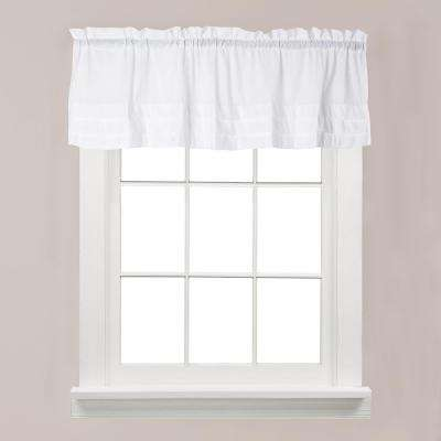 Holden 13 in. L Polyester Valance in White