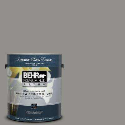 Home Decorators Collection 1-gal. #HDC-AC-19 Grant Gray Satin Enamel Interior Paint
