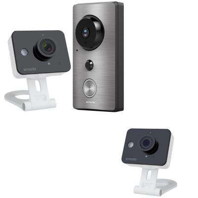 Wi-Fi 720TVL Smart Doorbell with Mini Cam Bundle and Additional Free Mini Cam