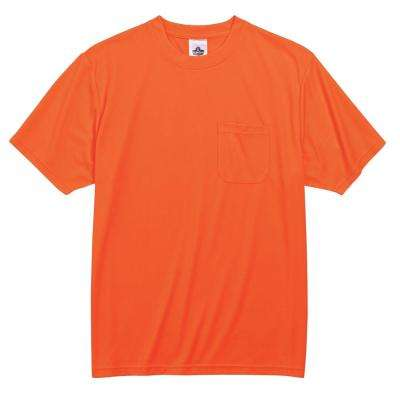 GloWear Men's Orange Polyester Short Sleeve Safety Shirt