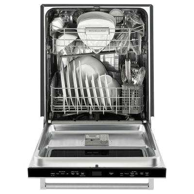 Top Control Built-In Dishwasher in Stainless Steel with Stainless Steel Tub and Window with Lighted Interior, 44dBA