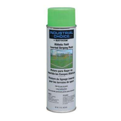 17 oz. Florescent Green Athletic Field Striping Spray Paint (12-Pack)