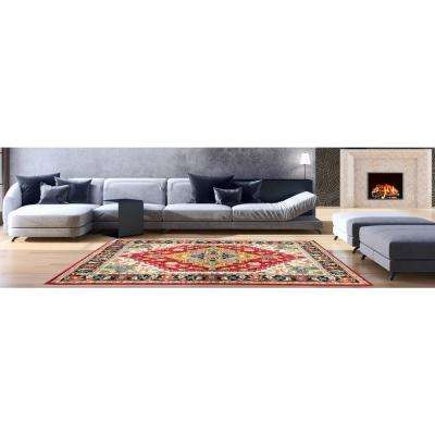 Aiza Collection Red 5 ft. x 7 ft. Area Rug