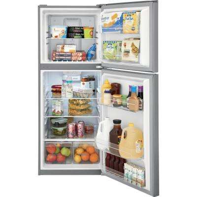 11.6 cu. ft. Top Freezer Refrigerator in Brushed Steel, ENERGY STAR