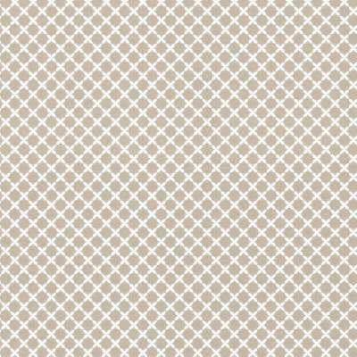 Symmetry Trellis Taupe Wallpaper