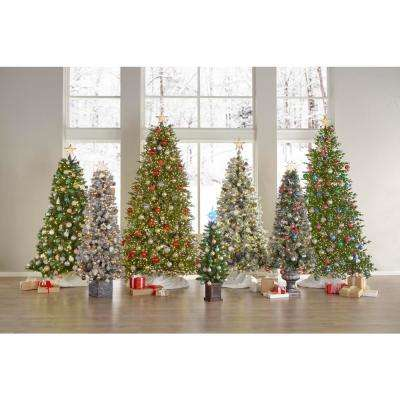 6.5 ft. Pre-Lit Sparkling Amelia Pine Potted Artificial Christmas Tree with 490 Tips and 200 Clear Lights