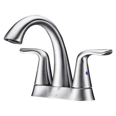 Cadenza Series 4 in. Centerset 2-Handle High-Arc Bathroom Faucet in Brushed Nickel