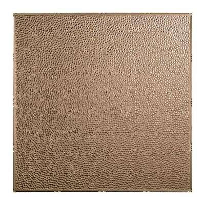 Hammered - 2 ft. x 2 ft. Lay-in Ceiling Tile in Brushed Nickel