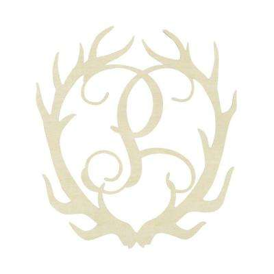 19.5 in. Unfinished Antler Monogram (P)