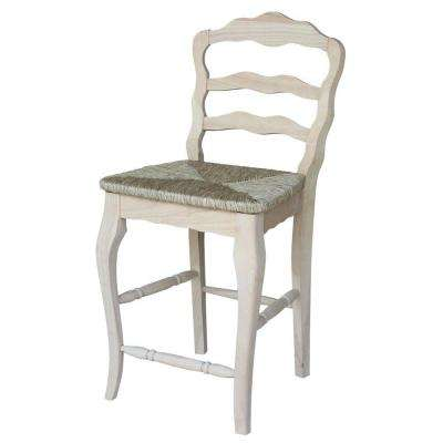 International Concepts Versailles 24 inch Unfinished Wood Bar Stool by Wooden Bar Stools