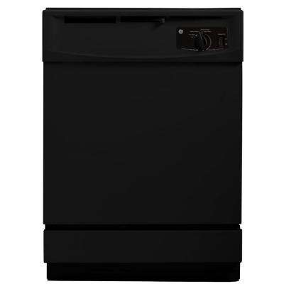 24 in. Front Control Dishwasher in Black